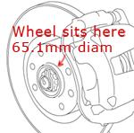C6 wheel spigot